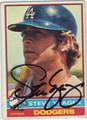 STEVE YEAGER AUTOGRAPHED VINTAGE BASEBALL CARD #92412K