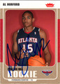 AL HORFORD AUTOGRAPHED ROOKIE BASKETBALL CARD #92412L
