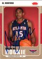AL HORFORD AUTOGRAPHED ROOKIE BASKETBALL CARD #92412L