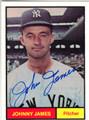 JOHNNY JAMES AUTOGRAPHED BASEBALL CARD #92411L