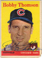 BOBBY THOMSON CHICAGO CUBS AUTOGRAPHED VINTAGE BASEBALL CARD #92413D