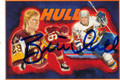 BRETT HULL AUTOGRAPHED HOCKEY CARD #92511F