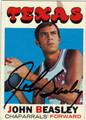 JOHN BEASLEY AUTOGRAPHED VINTAGE BASKETBALL CARD #92512B