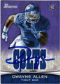 DWAYNE ALLEN INDIANAPOLIS COLTS AUTOGRAPHED ROOKIE FOOTBALL CARD #92513G