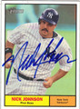 NICK JOHNSON AUTOGRAPHED BASEBALL CARD #92611C