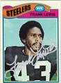 FRANK LEWIS AUTOGRAPHED VINTAGE FOOTBALL CARD #92611B