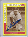Wally Moon Autographed Baseball Card #92710P