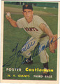 FOSTER CASTLEMAN NEW YORK GIANTS AUTOGRAPHED VINTAGE BASEBALL CARD #92613i