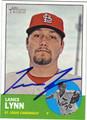 LANCE LYNN AUTOGRAPHED BASEBALL CARD #92712K