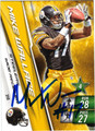 MIKE WALLACE AUTOGRAPHED FOOTBALL CARD #92811E