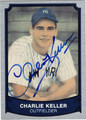 CHARLIE KELLER NEW YORK YANKEES AUTOGRAPHED BASEBALL CARD #92713B