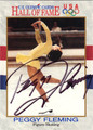 PEGGY FLEMING AUTOGRAPHED OLYMPIC SKATING CARD #92812C