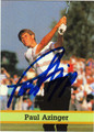 PAUL AZINGER AUTOGRAPHED GOLF CARD #92812i