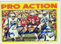 VIC WASHINGTON AUTOGRAPHED VINTAGE FOOTBALL CARD #92812H