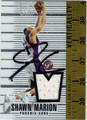 SHAWN MARION AUTOGRAPHED PIECE OF THE GAME BASKETBALL CARD #92812K