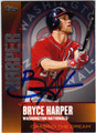 BRYCE HARPER WASHINGTON NATIONALS AUTOGRAPHED BASEBALL CARD #92813C