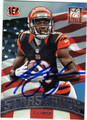 AJ GREEN CINCINNATI BENGALS AUTOGRAPHED FOOTBALL CARD #92813i