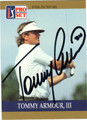 TOMMY ARMOUR, III AUTOGRAPHED GOLF CARD #92912E
