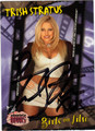TRISH STRATUS AUTOGRAPHED WRESTLING CARD #92912H