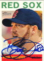 RYAN DEMPSTER BOSTON RED SOX AUTOGRAPHED BASEBALL CARD #92913E