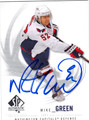 MIKE GREEN AUTOGRAPHED HOCKEY CARD #93012E