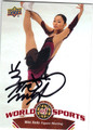 MIKI ANDO AUTOGRAPHED FIGURE SKATING CARD #93013G