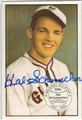HAL SCHUMACHER NEW YORK GIANTS AUTOGRAPHED VINTAGE BASEBALL CARD #93013i