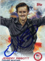 JEREMY ABBOTT AUTOGRAPHED OLYMPICS FIGURE SKATING CARD #11214D