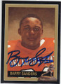 BARRY SANDERS AUTOGRAPHED HEISMAN FOOTBALL CARD #11214K