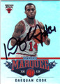 DAEQUAN COOK CHICAGO BULLS AUTOGRAPHED BASKETBALL CARD #11314N