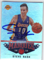 STEVE NASH LOS ANGELES LAKERS AUTOGRAPHED BASKETBALL CARD #11414G