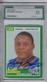 BARRY SANDERS DETROIT LIONS GRADED, AUTOGRAPHED ROOKIE FOOTBALL CARD #11714A