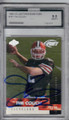 TIM COUCH CLEVELAND BROWNS GRADED, AUTOGRAPHED ROOKIE FOOTBALL CARD #11714H