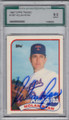NOLAN RYAN TEXAS RANGERS GRADED, AUTOGRAPHED VINTAGE BASEBALL CARD #11714K