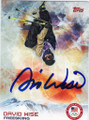 DAVID WISE OLYMPIC FREESKIING AUTOGRAPHED CARD #11814N
