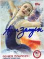 AGNES ZAWADZKI OLYMPIC FIGURE SKATING AUTOGRAPHED CARD #11914C
