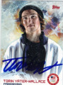 TORIN YATER-WALLACE OLYMPIC FREESKIING AUTOGRAPHED CARD #11914F