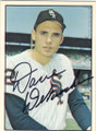 DAVE DeBUSSCHERE CHICAGO WHITE SOX AUTOGRAPHED VINTAGE BASEBALL CARD #11914L
