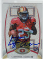 LaMICHAEL JAMES SAN FRANCISCO 49ers AUTOGRAPHED ROOKIE FOOTBALL CARD #11914R