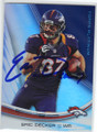 ERIC DECKER DENVER BRONCOS AUTOGRAPHED FOOTBALL CARD #12014G