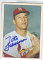 TITO FRANCONA ST LOUIS CARDINALS AUTOGRAPHED VINTAGE BASEBALL CARD #12014M