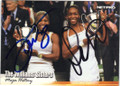 VENUS WILLIAMS & SERENA WILLIAMS DOUBLE AUTOGRAPHED TENNIS CARD #12014O