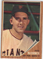 MIKE McCORMICK SAN FRANCISCO GIANTS AUTOGRAPHED VINTAGE BASEBALL CARD #12014Q