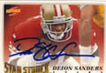 DEION SANDERS SAN FRANCISCO 49ers AUTOGRAPHED FOOTBALL CARD #11914U