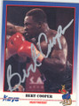 BERT COOPER AUTOGRAPHED BOXING CARD #12114G