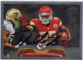 JAMAAL CHARLES KANSAS CITY CHIEFS AUTOGRAPHED FOOTBALL CARD #12114P