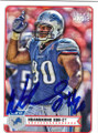 NDAMUKONG SUH DETROIT LIONS AUTOGRAPHED FOOTBALL CARD #12114T
