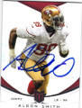ALDON SMITH SAN FRANCISCO 49ers AUTOGRAPHED FOOTBALL CARD #12214K