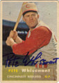PETE WHISENANT CINCINNATI REDLEGS AUTOGRAPHED VINTAGE ROOKIE BASEBALL CARD #12214Q
