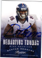 DEMARYIUS THOMAS DENVER BRONCOS AUTOGRAPHED FOOTBALL CARD #12214R